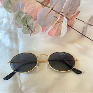 Round Lens Women's Sunglasses Gold Frames